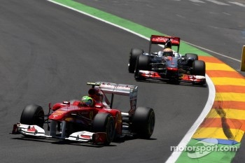Felipe Massa ahead of Lewis Hamilton