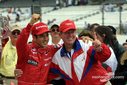 Helio Castroneves and Firestone CEO John Lampe