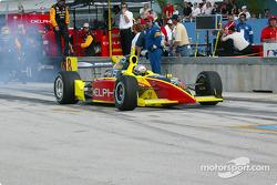 Scott Sharp leaving the pits