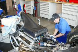 Bradley Motorsports garage area