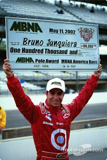 Pole winner Bruno Junqueira