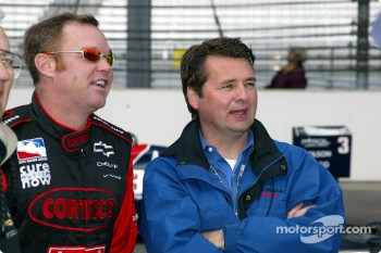 Al Unser Jr. and Scott Goodyear who were involved in the closest finish ever at the Indy 500 in 1992