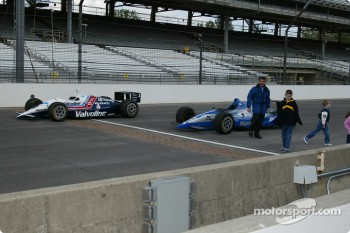Al Unser Jr. and Scott Goodyear who were involved in the closest finish ever at the Indy 500 in 1993