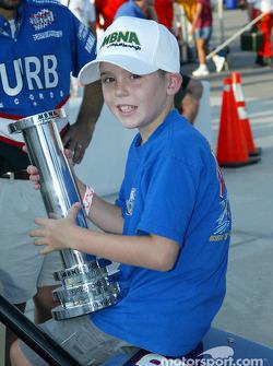 Little Chad Boat celebrating daddy's Pole Winner Award
