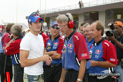 Tomas Scheckter with Cheever Racing team manager Richard Caron