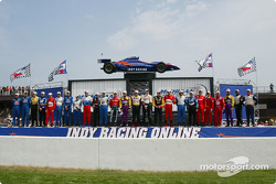 Pre-race ceremonies: drivers lineup