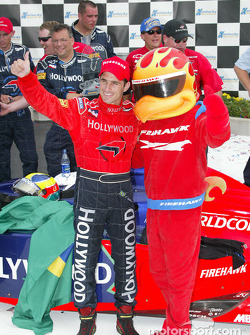 Race winner Felipe Giaffone with Firestone Firehawk