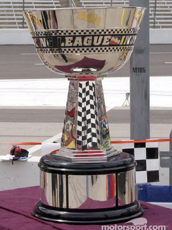 Championship Trophy on display before the race