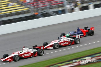 Tomas Scheckter, Scott Dixon and Alex Barron