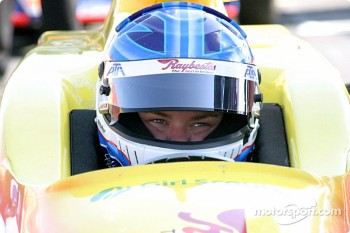 Sarah Fisher shortly before her crash