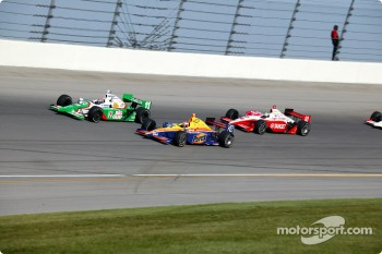 Tony Kanaan, Robbie Buhl and Scott Dixon
