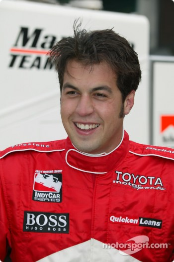 Sam Hornish Jr. enjoyed his first day with Marlboro Team Penske at Indianapolis