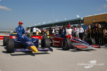 Front row for Toyota Indy 300: pole winner Buddy Rice and Alex Barron