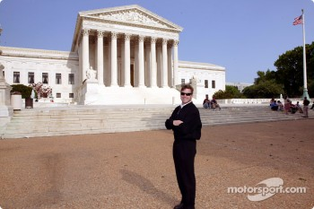Indianapolis 500 - Washington D.C. visit: Robbie Buhl in front of the U.S Supreme Court
