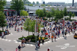 Fans at Indianapolis Motor Speedway during opening day