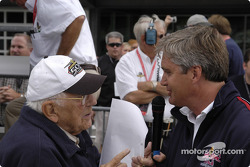 Tom Carnegie interviews Eddie Cheever
