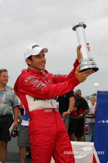MBNA pole winner Helio Castroneves