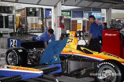 Dreyer & Reinbold Racing garage area