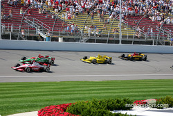 Scott Dixon, Adrian Fernandez, Tomas Scheckter and Bryan Herta