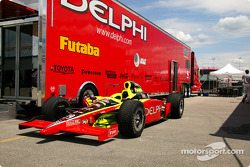 Kelley Racing car and transporter