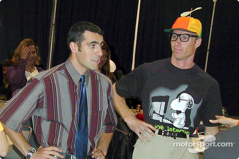 Runway Madness event: Dario Franchitti and Memo Gidley