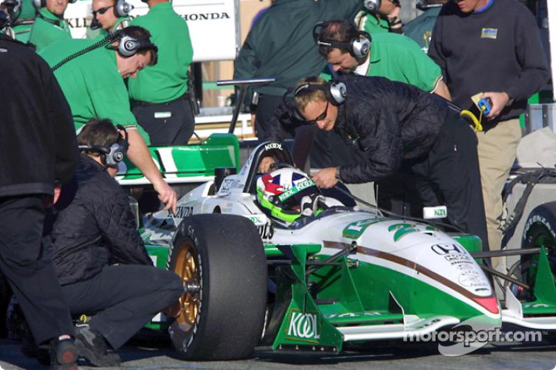 Dario Franchitti in the pits