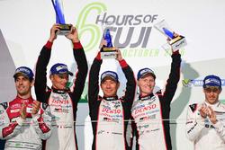 LMP1 podium: race winners #6 Toyota Racing Toyota TS050 Hybrid: Stéphane Sarrazin, Mike Conway, Kamui Kobayashi