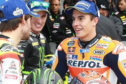 Polesitter Marc Marquez, Repsol Honda Team; 2. Cal Crutchlow, Team LCR, Honda