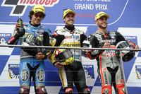 Moto2 Foto - Podio: il vincitore della gara Thomas Lüthi, Interwetten, il secondo classificato Franco Morbidelli, Marc VDS, il terzo classificato Sandro Cortese, Dynavolt IntactGP