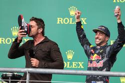 Gerard Butler, Actor and Daniel Ricciardo, Red Bull Racing RB12
