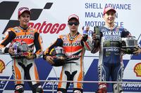 MotoGP Fotos - Podio: ganador de la carrera Dani Pedrosa, Repsol Honda; segundo lugar Marc Márquez; tercer lugar Jorge Lorenzo, Yamaha