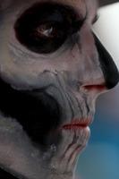 Formula 1 Foto - Max Verstappen, Red Bull Racing walks in the Paddock with full Dia de Muertos face paint