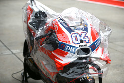 Andrea Dovizioso, Ducati Team, Bike mit Regenhaube