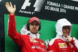 Lotus F1 Team Sebastian Vettel, Ferrari with Kimi Raikkonen, Ferrari on the drivers parade