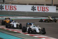 Felipe Massa, Williams FW38 leads team mate Valtteri Bottas, Williams FW38