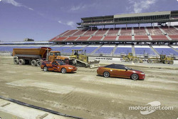 Construction work at Chicago Motor Speedway