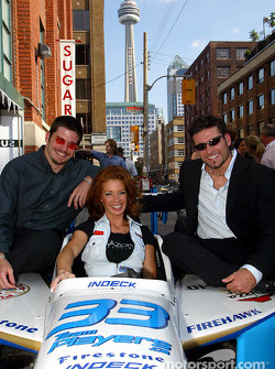 Patrick Carpentier and Alex Tagliani taking some time before this year's Toronto Molson Indy to relax at the Sugar club in Toronto