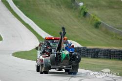 Mario Dominguez' wrecked car