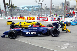 Ryan Hunter-Reay and Joel Camathias in trouble
