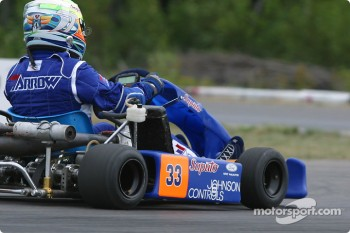 Rocketsports-Tagliani karting event: Alex Tagliani races his custom-built 250 cc CRG-TM twin engine 88 hp kart around the SRA Karting track
