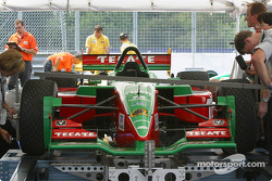 Fernandez Racing car at technical inspection