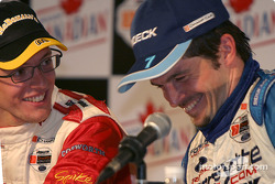 Press conference: Sébastien Bourdais and Patrick Carpentier share a laugh