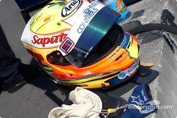 Alex Tagliani's helmet