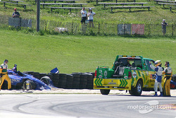 Alex Tagliani in the tires