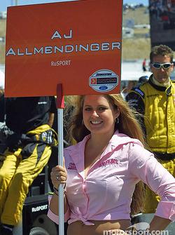 A.J. Allmendinger's grid girl