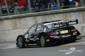 Gary Paffett crashed out of the race