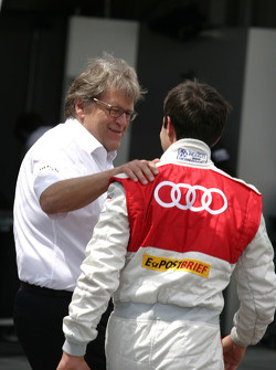 Norbert Haug, Sporting Director Mercedes-Benz and Mike Rockenfeller, Audi Sport Team Abt, Audi A4 DTM