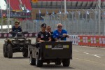 Track inspection for Paul Tracy, Dragon Racing