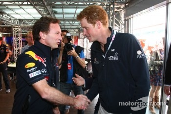 Christian Horner, Red Bull Racing, Sporting Director with Prince Harry