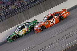 Mark Martin, Hendrick Motorsports Chevrolet, Joey Logano, Joe Gibbs Racing Toyota